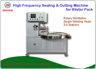HF Welding Rotary Blister Packing Machine 27.12 MHz For Double Plastic Film Welding