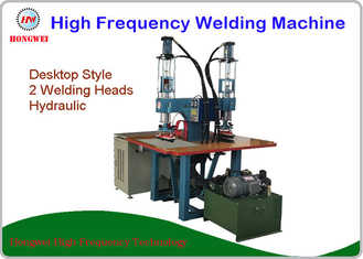 Hydraulic Press Dual Head High Frequency Welding Machine Pedal Triggered 8 KW